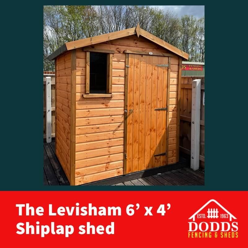 levisham 6×4 shiplap Dodds shed (1)
