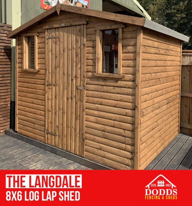 THE LANGDALE 8X6 LOG LAP Dodds Fencing and Sheds