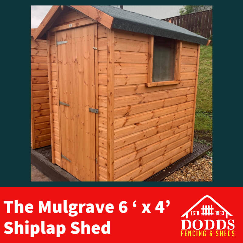 mulgrave 6×4 shed dodds
