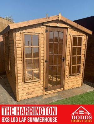 Log Lap Summerhouse 3 Opening Windows Double Doors with Key Lock Fitted as Standard 16mm Log Lap Cladding Tongue and groove floor & Roof High Quality Treatment with a choice of colours Heavy Duty Polyester roofing felt Free delivery & installation included