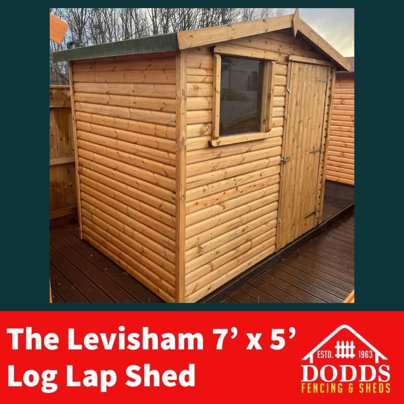 7×5 levisham Dodds Fencing Sheds