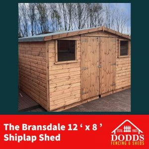 An excellent space saving addition to your garden, providing a modern exterior and optimal storage capabilities. Lockable Hasp & Staple Fitted as Standard 16mm Log Lap Cladding Tongue and groove floor & Roof High Quality Treatment Heavy Duty Polyester roofing felt