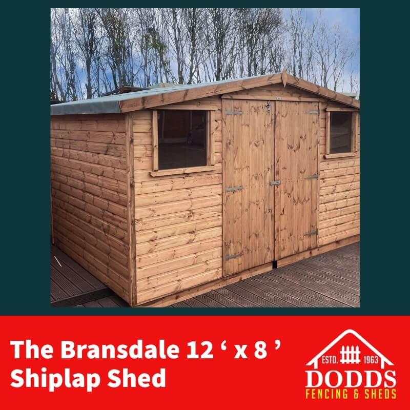 12×8 Bransdale Dodds Fencing and Sheds