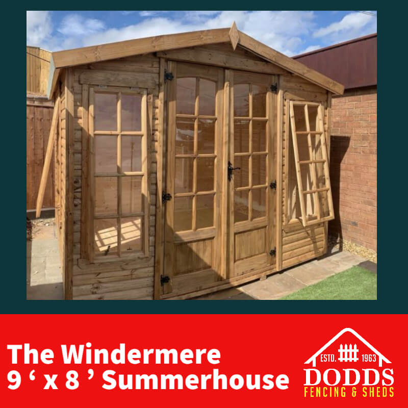 9×8 Windermere Summerhouse Dodds Fencing and Sheds