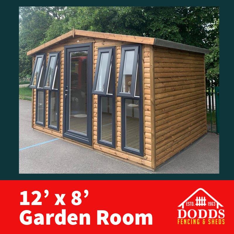 Dodds 12×8 log lap garden room