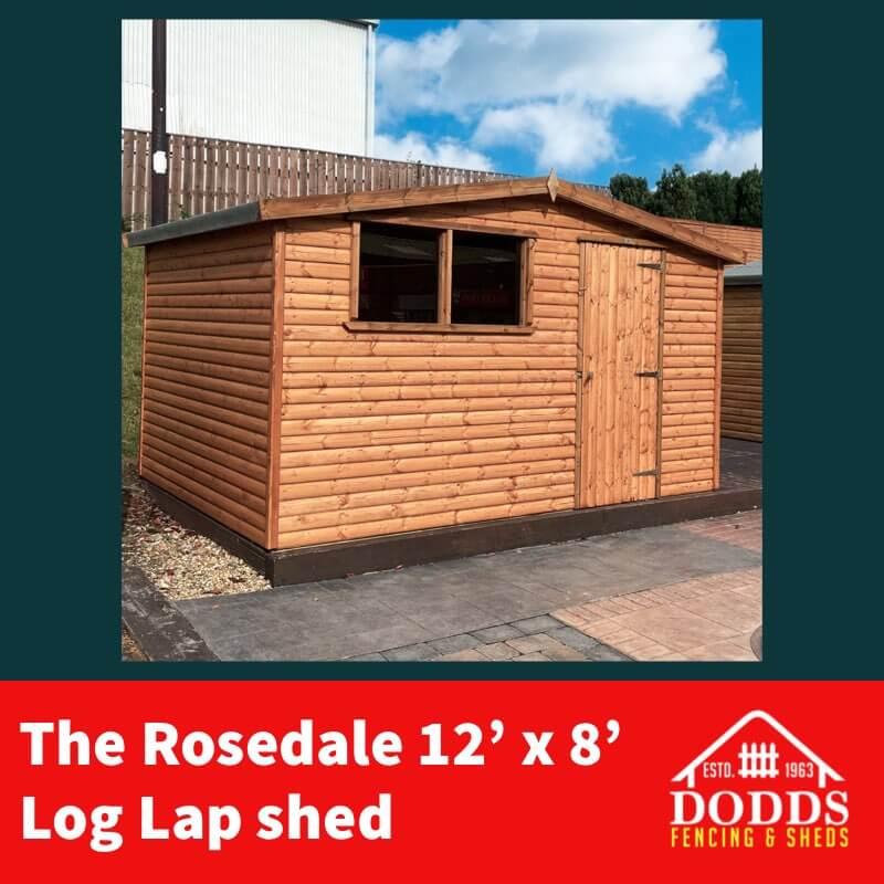 ROSEDALE 12X8 DODDS SHED (1)