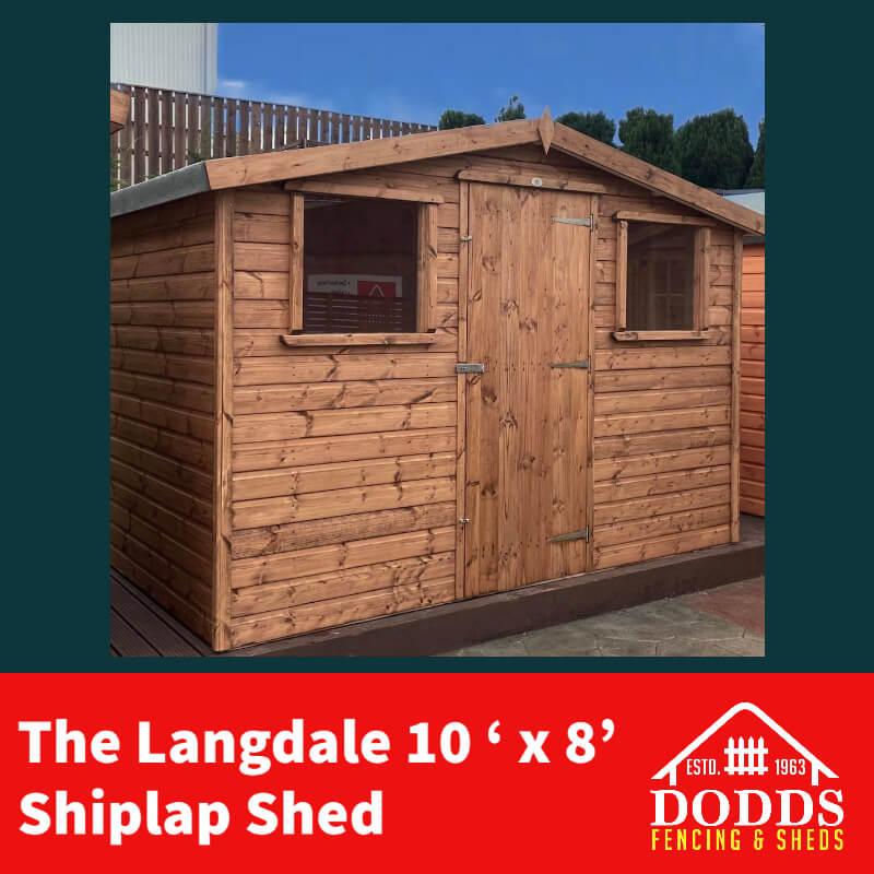 Langdale 10×6 Dodds Fencing and Sheds