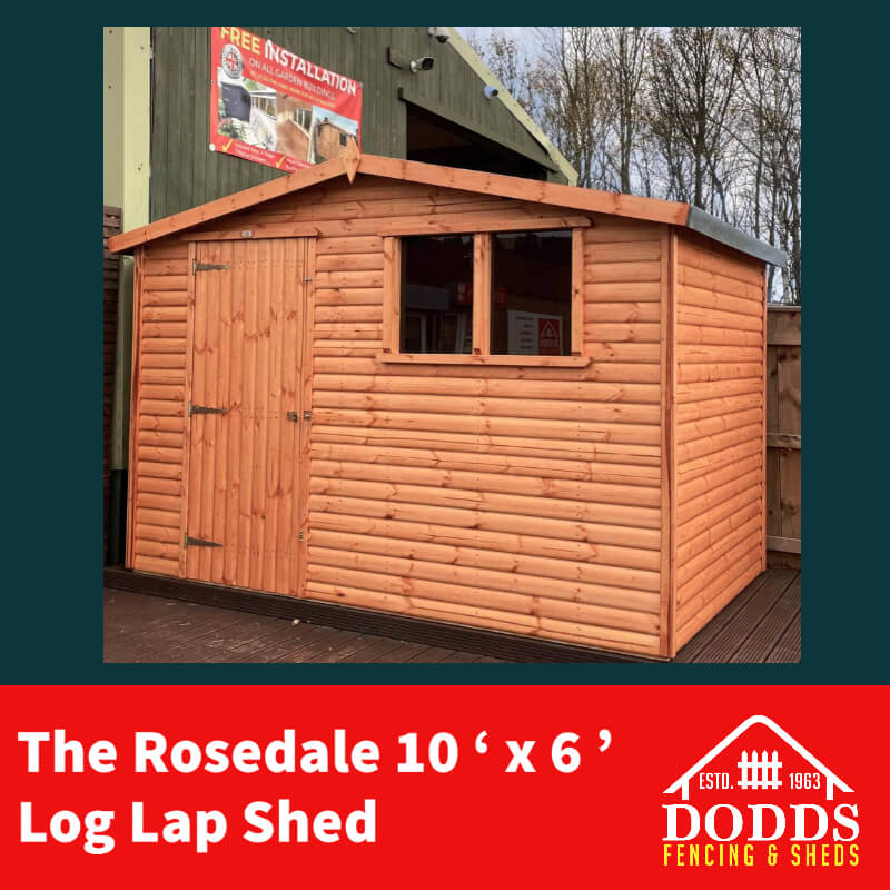 The Rosedale 10 x 6 Dodds Fencing and Sheds