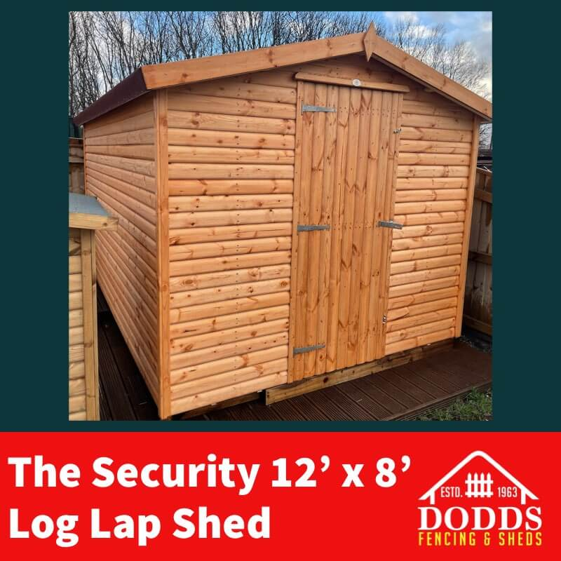 12×8 security shed dodds fencing
