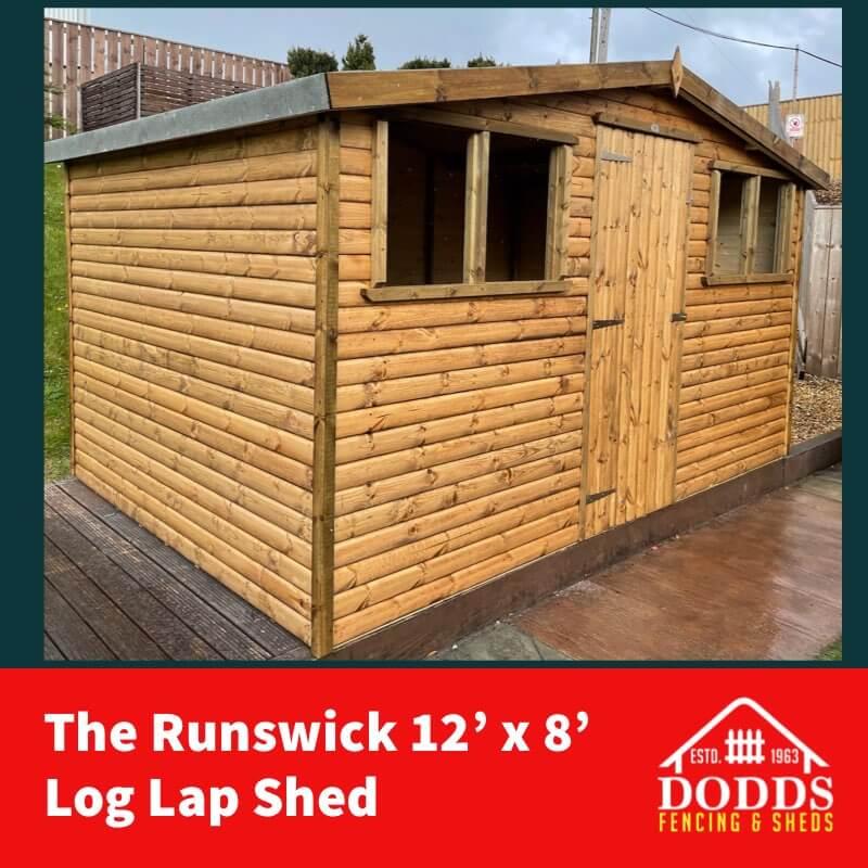 THE RUNSWICK 12X8 LOG LAP SHED DODDS (1)