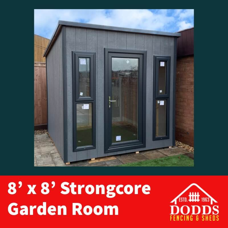 8×8 Strongcore Garden Room Dodds Fencing and Sheds
