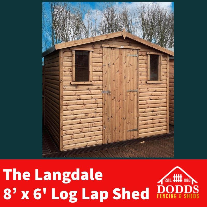 The Langdale 8×6 Log Lap Shed Dodds