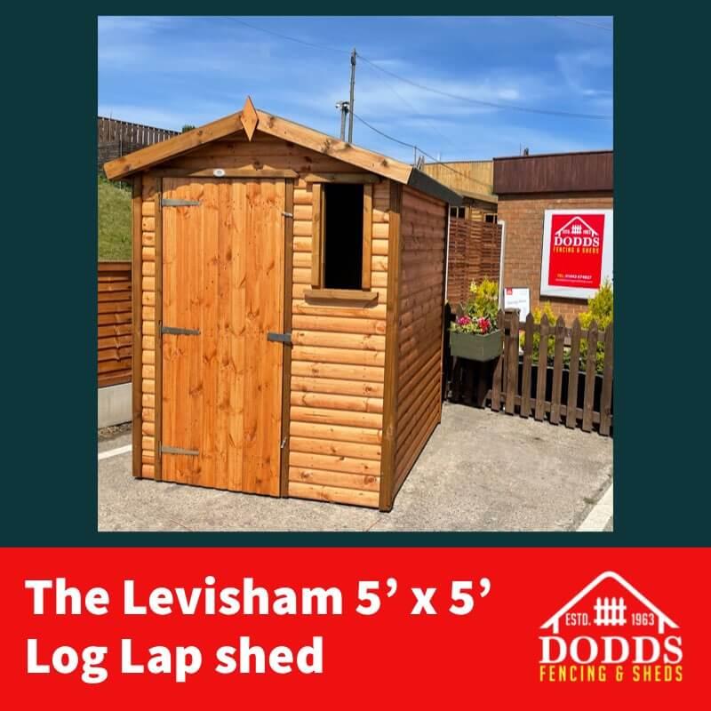 LEVISHAM 5X5 GARDEN SHED DODDS (1)