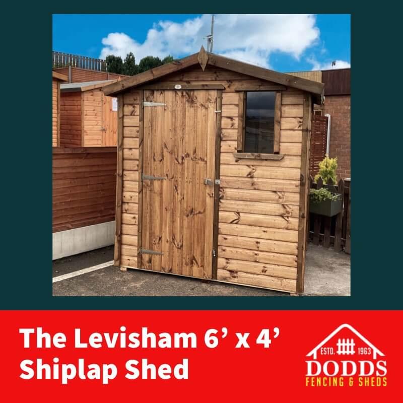 Dodds Levisham 6×4 shiplap shed (1)