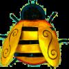 Small Metal Bumblebee Wall Art