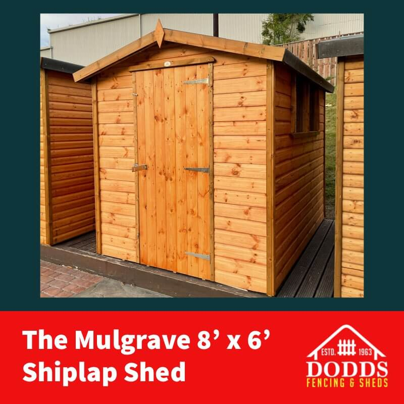 Dodds Mulgrave 8×6 shiplap Shed (1)